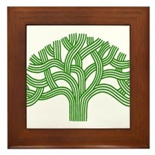 Oakland Tree Green Framed Tile