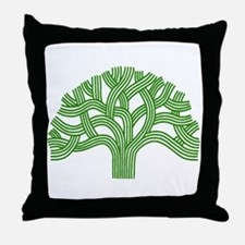 Oakland Tree Green Throw Pillow
