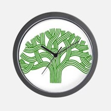 Oakland Tree Green Wall Clock