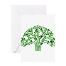 Oakland Tree Green Greeting Card