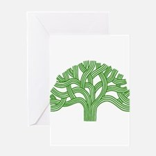 Oakland Tree Green Greeting Card
