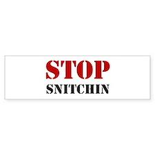 Stop Snitchin 7 Bumper Bumper Sticker
