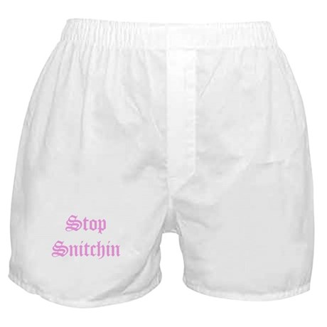 Stop Snitchin 6 Boxer Shorts