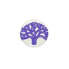 Oakland Tree Blue Mini Button