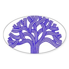 Oakland Tree Blue Decal