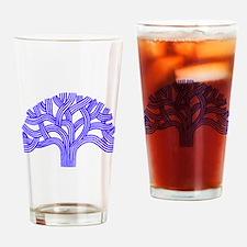 Oakland Tree Blue Drinking Glass