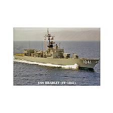 USS BRADLEY Rectangle Magnet