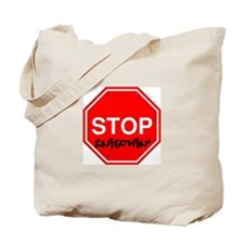 Stop Sign Snitching Tote Bag