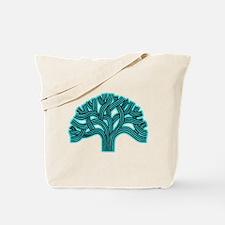 Oakland Tree Hazed Teal Tote Bag