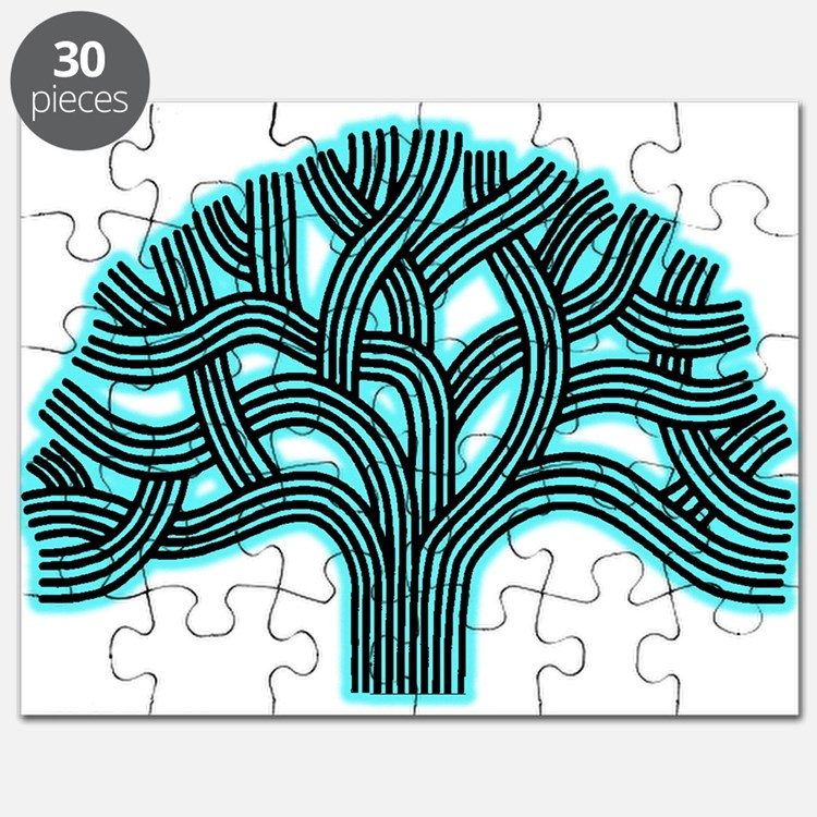 Oakland Tree Hazed Teal Puzzle