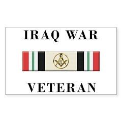 Masons In Iraq Decal