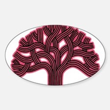 Oakland Tree Hazed Red Decal