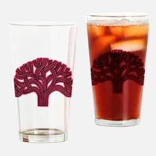 Oakland Tree Hazed Red Drinking Glass