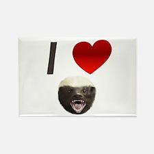 I Love Honey Badgers Rectangle Magnet
