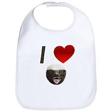 I Love Honey Badgers Bib