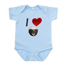 I Love Honey Badgers Infant Bodysuit