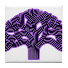 Oakland Tree Purple Haze Tile Coaster