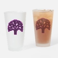 Oakland Tree Pink Haze Drinking Glass