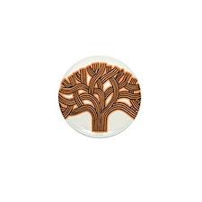 Oakland Tree Hazed Orange Mini Button