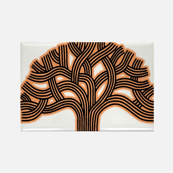 Oakland Tree Hazed Orange Rectangle Magnet