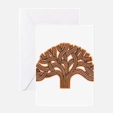 Oakland Tree Hazed Orange Greeting Card