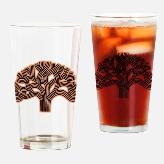 Oakland Tree Hazed Orange Drinking Glass