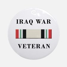 Iraq War Veterans Ornament (Round)