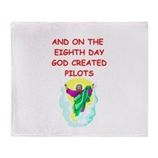 pilots Throw Blanket