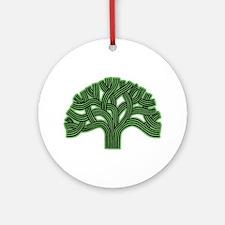 Oakland Tree Hazed Green Ornament (Round)