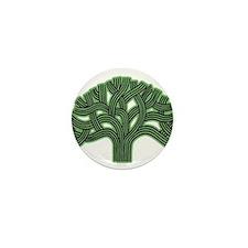 Oakland Tree Hazed Green Mini Button