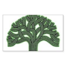 Oakland Tree Hazed Green Decal