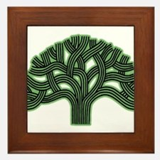 Oakland Tree Hazed Green Framed Tile