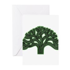 Oakland Tree Hazed Green Greeting Cards (Pk of 20)
