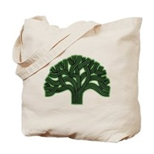 Oakland Tree Hazed Green Tote Bag