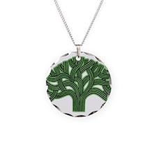 Oakland Tree Hazed Green Necklace