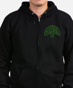 Oakland Tree Hazed Green Zip Hoodie