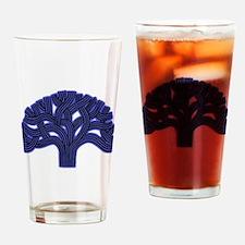 Oakland Tree Hazed Blue Drinking Glass