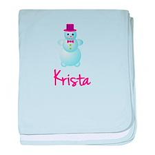 Krista the snow woman baby blanket