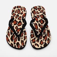 Jaguar Print Flip Flops