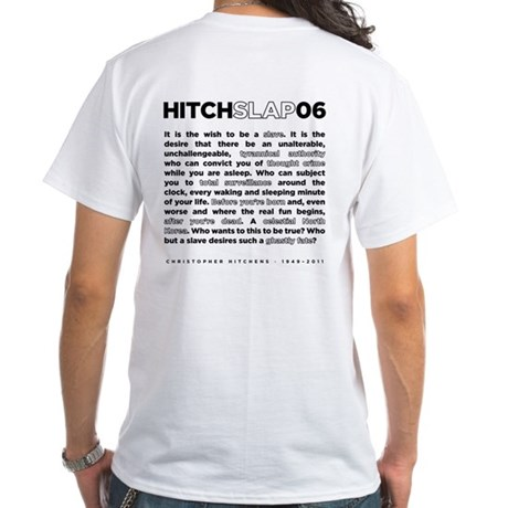 Christopher Hitchens Hitchslap 06 White T-Shirt