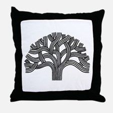 Oakland Tree Throw Pillow
