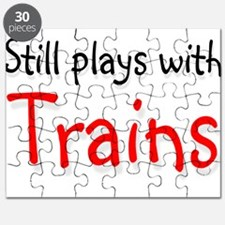Still plays with Trains Puzzle