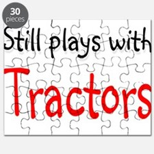 Still plays with Tractors Puzzle
