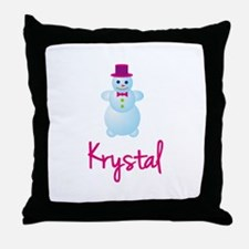 Krystal the snow woman Throw Pillow