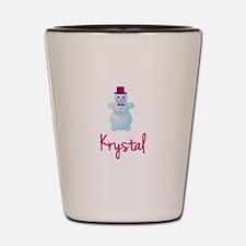 Krystal the snow woman Shot Glass
