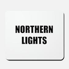 the northern lights Mousepad