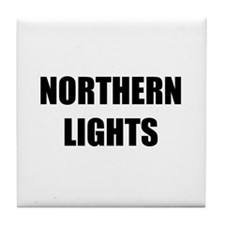 the northern lights Tile Coaster
