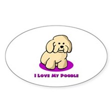 MINATURE POODLE Oval Decal
