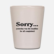 Sorry Shot Glass