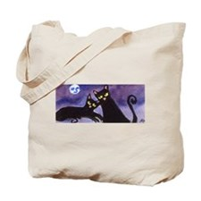 Black Cat moon Tote Bag